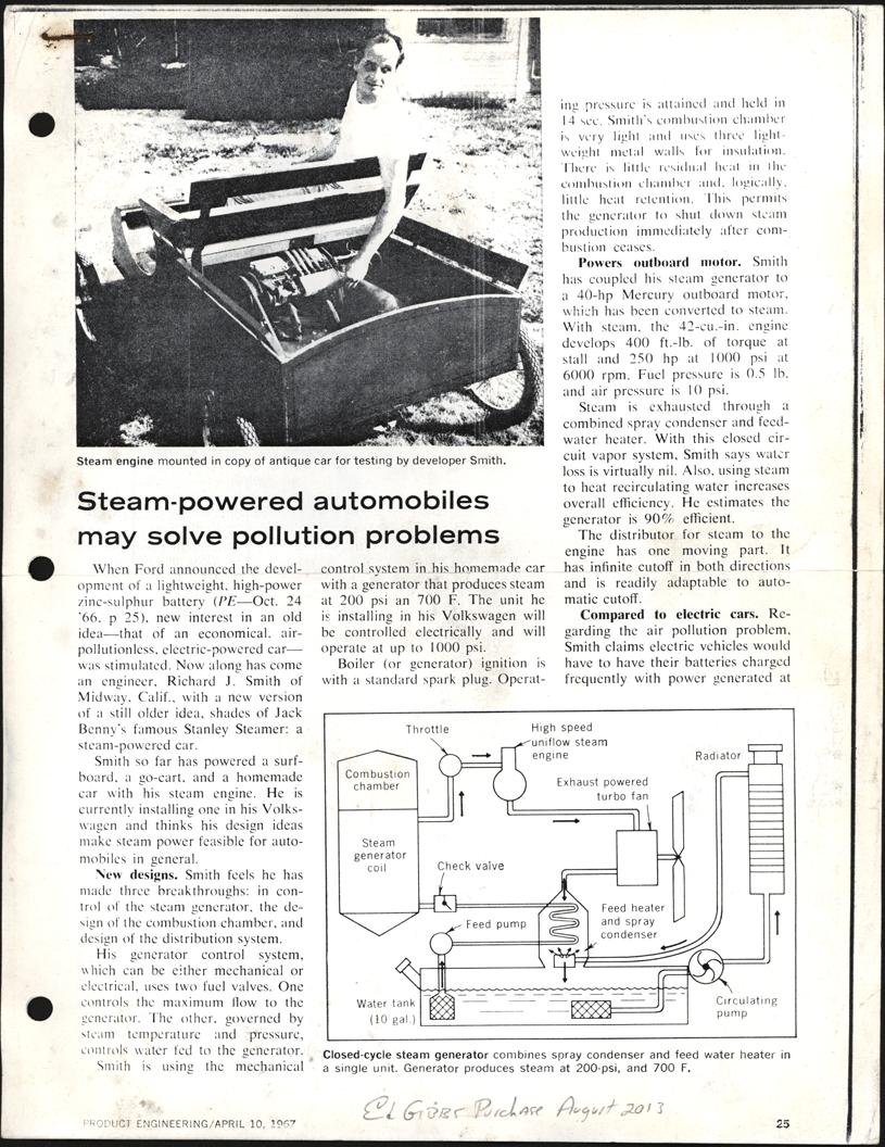 Smith's Automotive Setam Systems, All American Motors Company