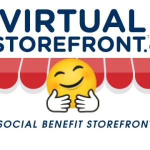 Social Benefit Storefront Hug Logo