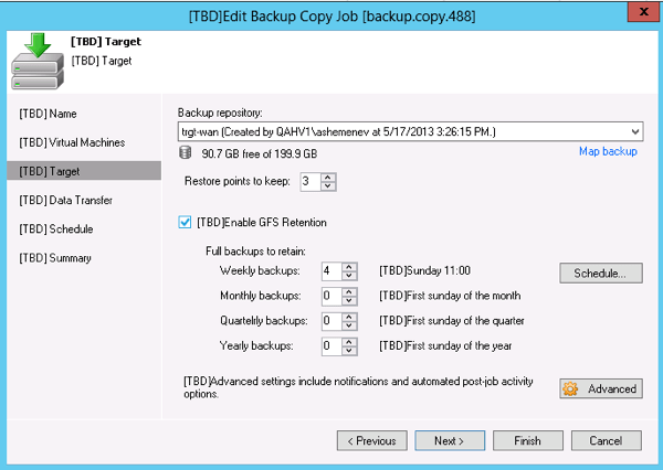 GFS rotation in Veeam 7