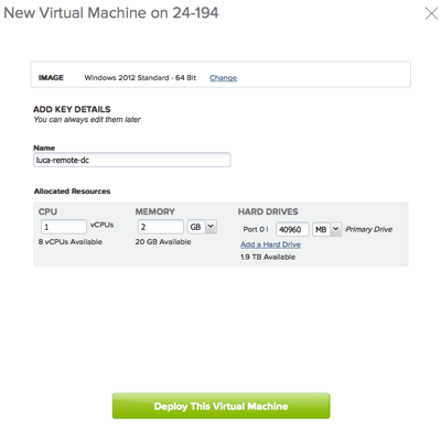 Create a new VM from template in vCHS