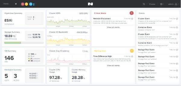 Nutanix new PRISM GUI
