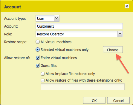 Account creation in Enterprise Manager