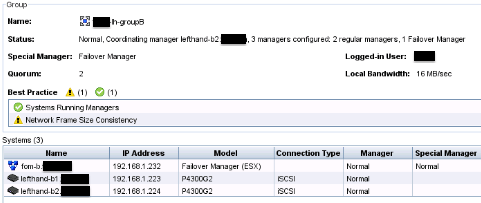 StoreVirtual cluster UP and Running again