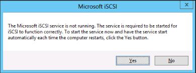 Activate iSCSI service