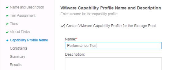 New VMware Capability Profile