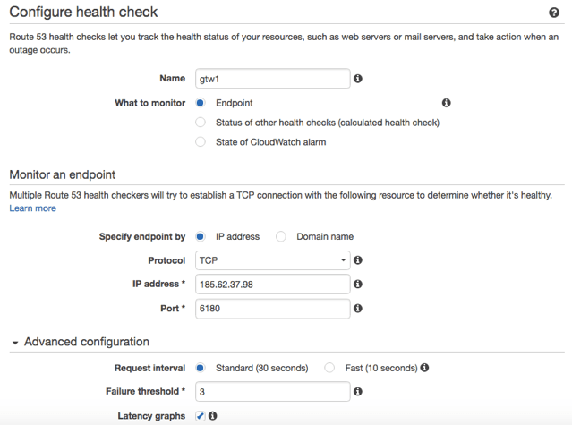 Health Check for a Veeam Cloud Gateway