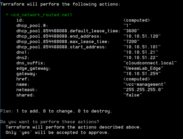 Learning how to use terraform in vCloud Director - Virtual