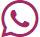 Donkerroze logo van Whatsapp