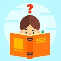 meisje dat een boek niet kan lezen