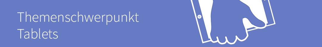 Themenschwerpunkt Tablets (Logo: Lene Kieberl/Virtuelle PH cc-by-sa-4.0)