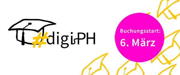 6. März: Buchungsstart Online-Tagung Hochschule digital.innovativ   #digiPH