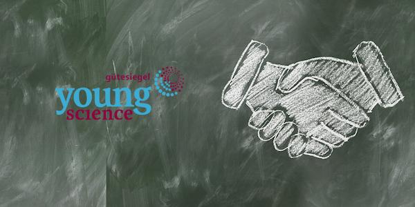 Bild: Logo Young Science Gütesiegel, Pixabay CC0