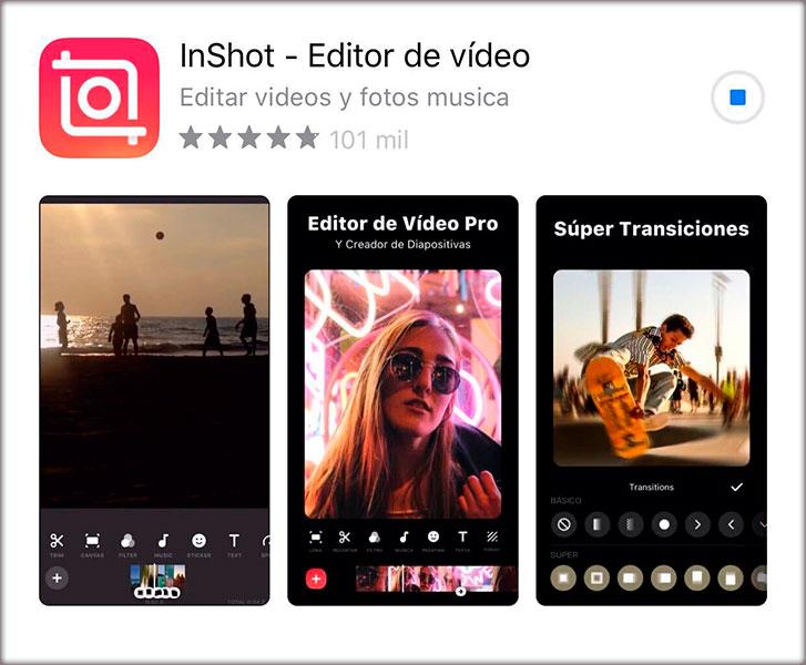 7 Aplicaciones de instagram que deberías conocer. InShot - Editor de vídeo