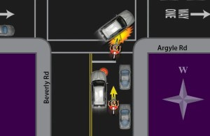Avoiding Right Hook conflict with turning cars