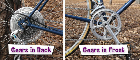 Bike Gears - Front and Back gears