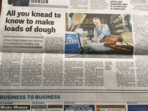 The Times business section reports on the rise of the business of bread
