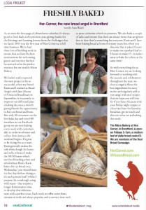 Sara and Katie and their gorgeous loaves at Hen Corner.