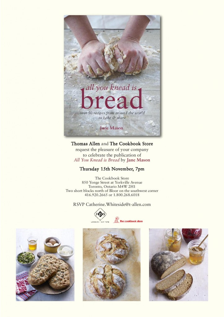 All You Knead Is Bread - Canadian Launch in Toronto 3