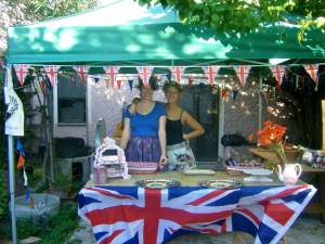 Lisa and co at the Bread Angels stall