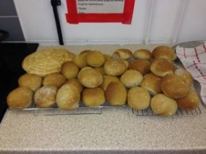 Fab buns baked by the Just Bread students
