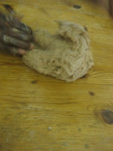 Kneading dough 1 at Just Bread