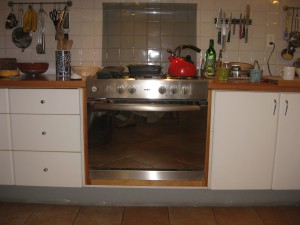 The culprit:  a very cheap gas oven in our rented house in Mexico City
