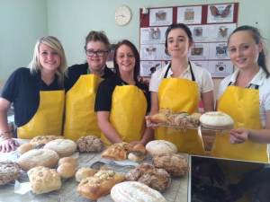 The young women on the Moneypenny project in Wrexham