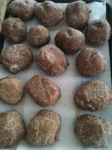 Home made doughnuts for Lent