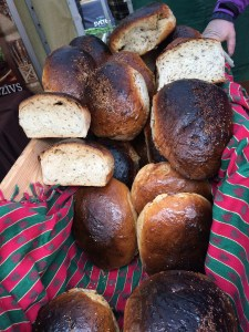 Lovely white bread at a market - no holes