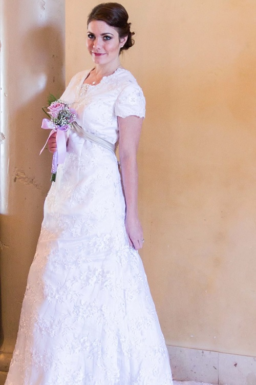 Adelaide Lace Wedding Dress with Sleeves