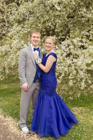 Cobalt Blue Mermaid Silhouette Custom Made Modest Prom Dress