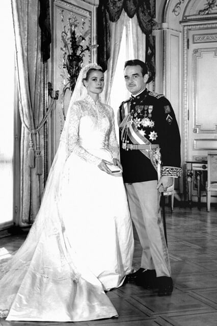 Grace Kelly on her Wedding Day to Prince Rainer