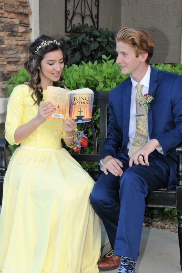 Megan's Yellow Lace Belle Inspired Formal