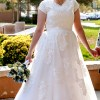 Bridget Lace Modest Wedding Dress