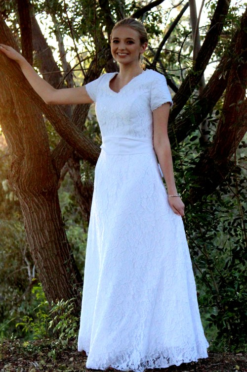 Kimberly Modest Wedding Dress with Sleeves