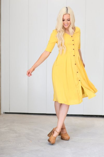 Latterday Bride Yellow Modest Dress