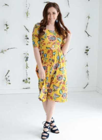 Salted Avenue Sunny Day Modest Floral Dress