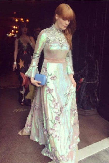 Florence Welch Silver Gucci Gown Met Gala 2016