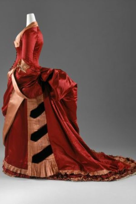 Dinner Dress Bustle 1884–86 The Metropolitan Museum of Art,