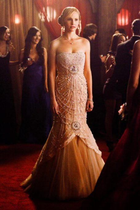 Caroline Beaded Prom Dress Vampire Diaries