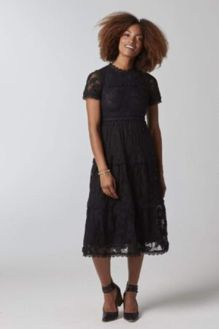 Black Lace Dress Downeast