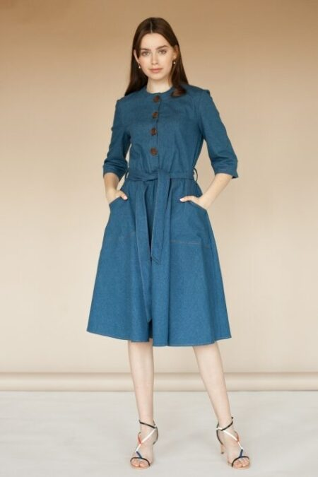 Modest Denim Dress Button Modestiq