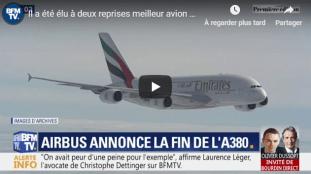 Vidéo – Airbus annonce la fin de la production de l'A380