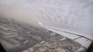 Le décollage d'un avion Air Algérie à Dubaï offre une magnifique vue