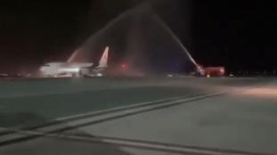 Un « water salute » pour un avion d'Air Algérie au sultanat d'Oman – Vidéo