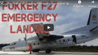 Atterrissage en urgence sur le nez d'un avion – Vidéo