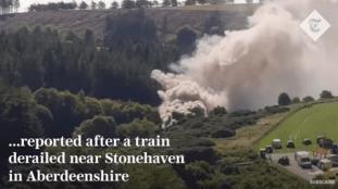 Déraillement d'un train de passagers en Ecosse – Vidéo