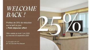 Promotion : Hôtel Sheraton Club des Pins – Alger