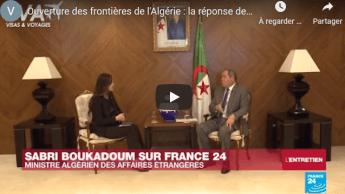 Réouverture des frontières : la réponse complète de Boukdoum sur France 24 – Vidéo