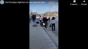 VIDÉO. Ibiza : des migrants algériens célèbrent leur arrivée sur une plage de rêve